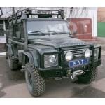 Передний силовой бампер алюминиевый кенгурин не съемный - Land Rover Defender 110