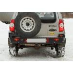 Задний силовой бампер на Chevrolet NIVA OJ 03.117.01