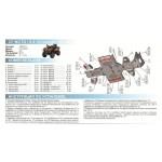 Защита днища CF MOTO ATV X8 /Terralander 800 efi (6 частей) (2012-)
