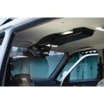 Потолочная консоль УАЗ Патриот (рестайлинг 2015 г.). Цвет чёрный. Вырез под р/с 140х40 мм.