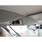 Консоль потолочная для установки р/c УАЗ Патриот 2019, вырез под р/с 140х40 ,без кармана, серая (ЭК)