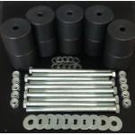 Боди лифт комплект 65 мм УАЗ Патриот капролон (d=70 мм) с крепежом (10 болтов М12x200) черный цвет