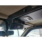 Консоль потолочная для установки р/c УАЗ Патриот 2007-2013, вырез под р/c 140х40 мм, черная