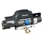 Лебёдка электрическая двухскоростная 12V Runva 10000 lbs (синтетический трос)